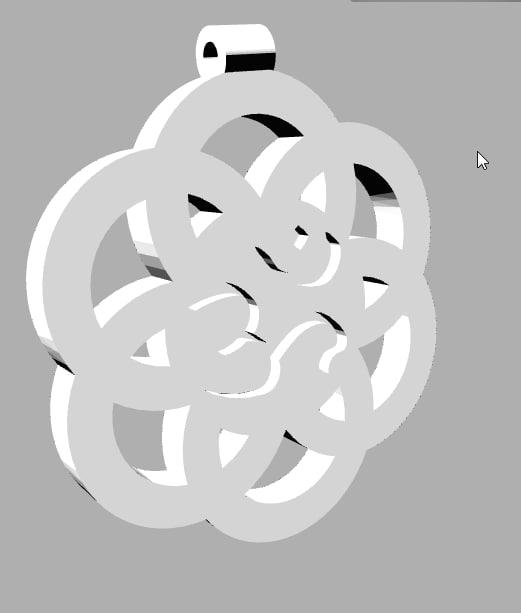 3D pendant flower life
