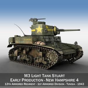 3D m3 light tank stuart