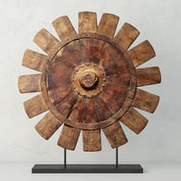 3D antiqued charkha decor model
