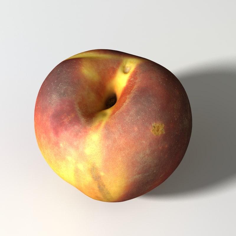 3D peach
