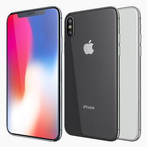 apple iphone x white 3D model