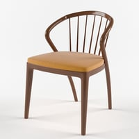 3D yamanami comb chair model