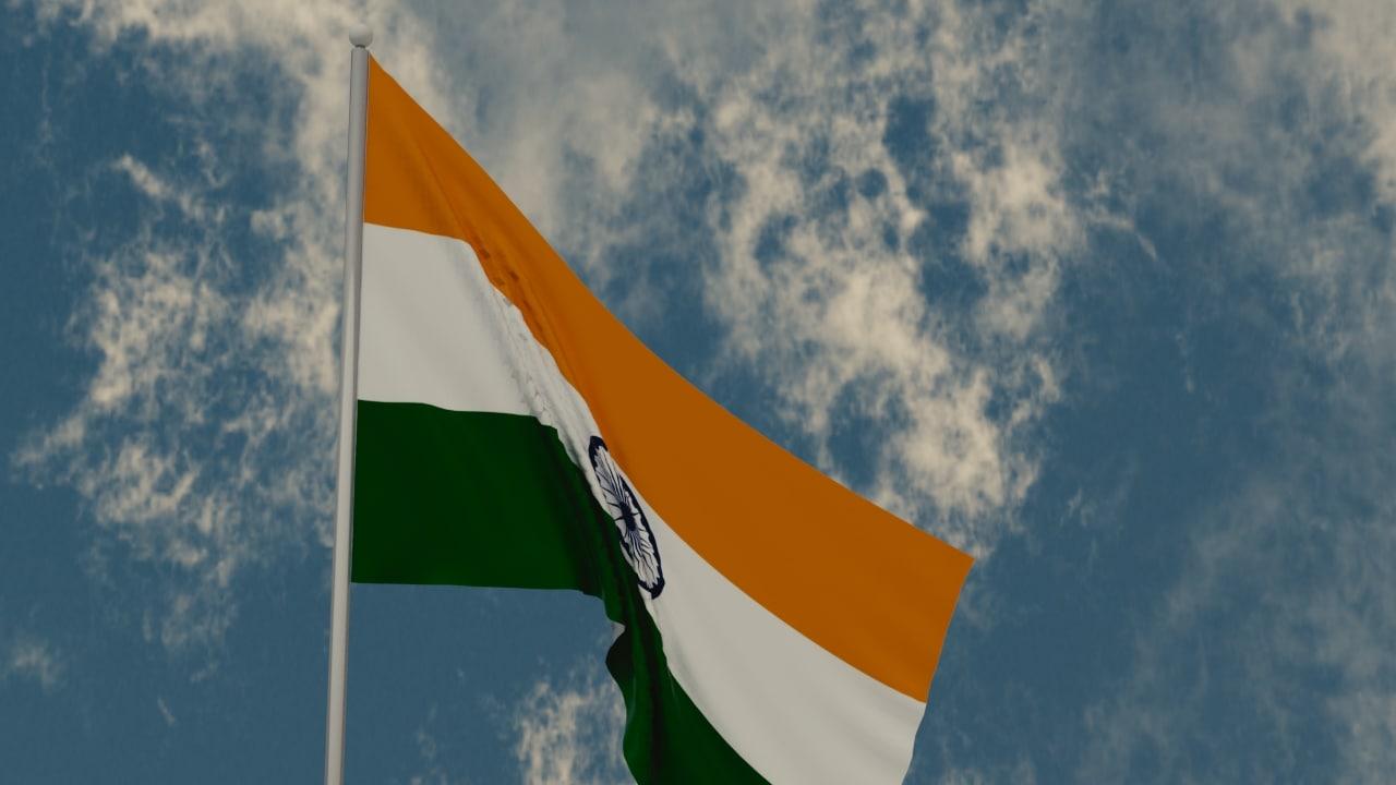 3D india flag