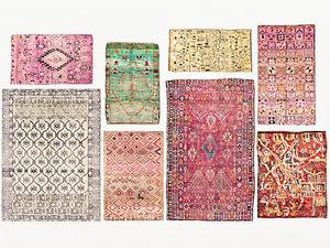 3D old vintage carpets moroccan model