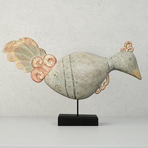 3D antique bird stand jeffan