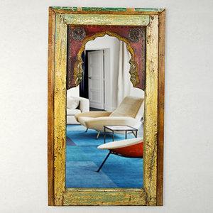 3D antique moorish arched mirror model