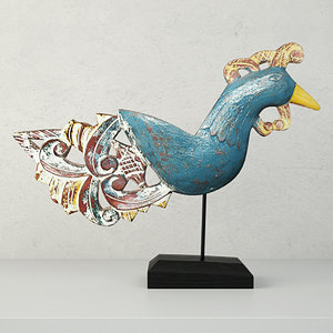 antique peacock stand jeffan model
