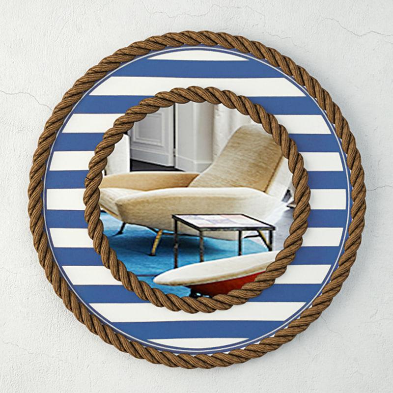 3D beach towel striped rope model