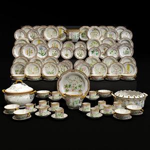 porcelain table service 3D model