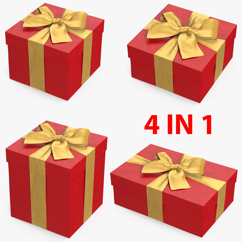 gift boxes 2 3D model