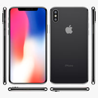 3D apple iphone x dark grey