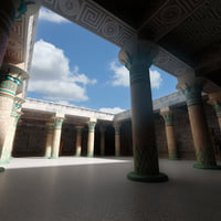 3D model egyptian temple interior