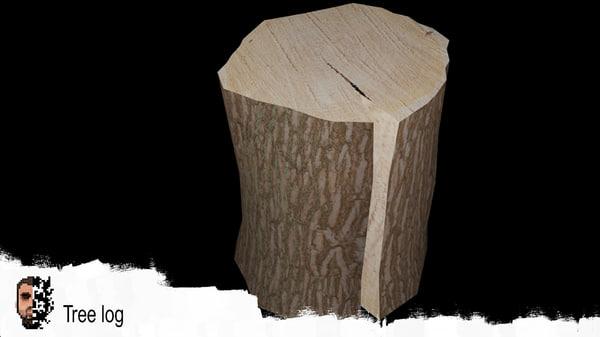 tree log 3D