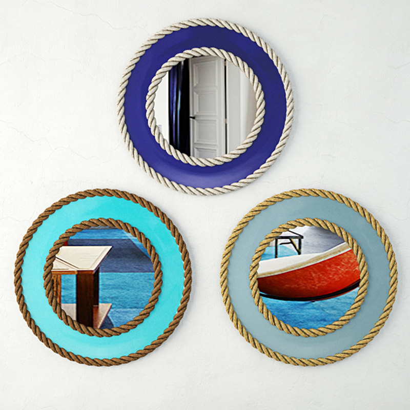 3D nautical rope mirrors model