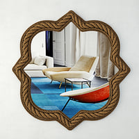 3D quatrefoil rope wall mirror