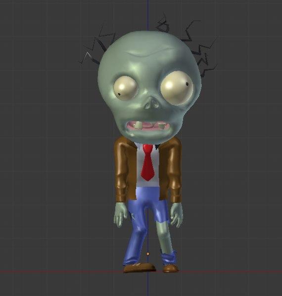 3D chibi zombie
