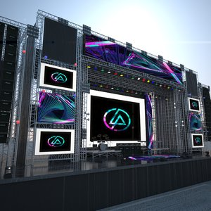 mega live stage 3D model