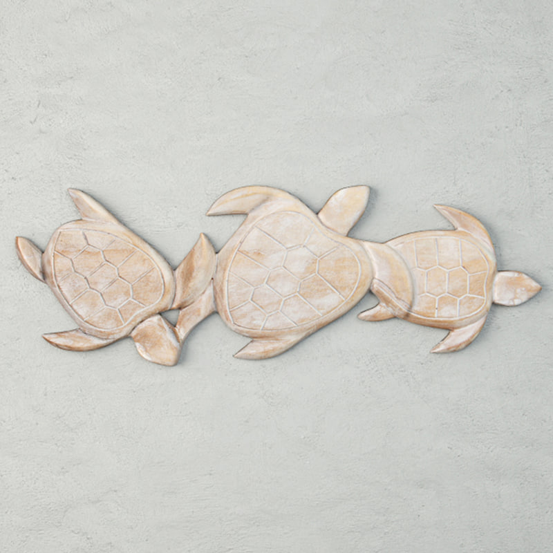 relief panel carving sea turtle 3D