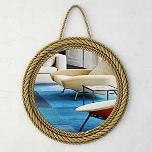 3D model jute mirror zara home