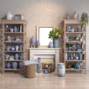 3D blues vase collections