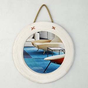 3D wood jute mirror zara