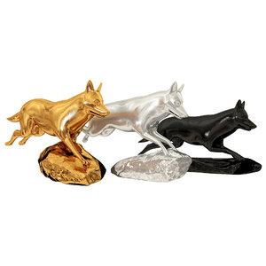 wolves sculpture 3D