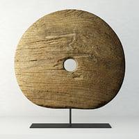 3D teak wheel model
