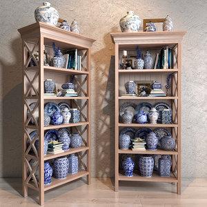 3D blues vase decor collections