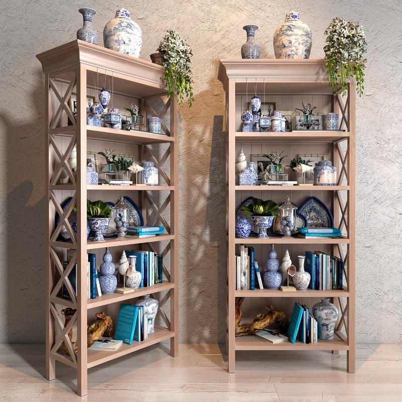 blues vase decor collections 3D model