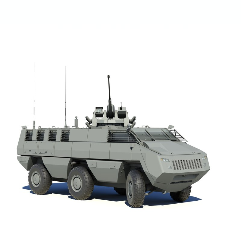 mbombe armoured fighting 3D model