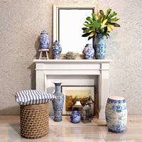 blues vase decor collections model