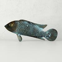 asian koi sculpture 3D model