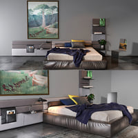 3D twils bedroom set 07b