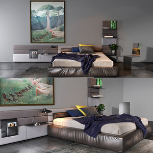 3D twils bedroom set 07b