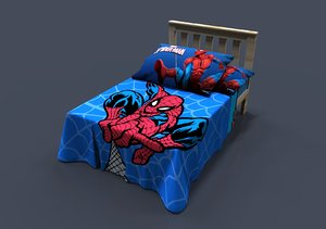 spiderman bed 3D