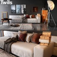 3D twils living set 01b model
