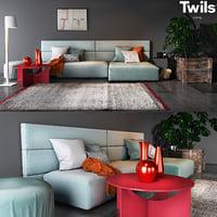 twils living set 04b 3D model