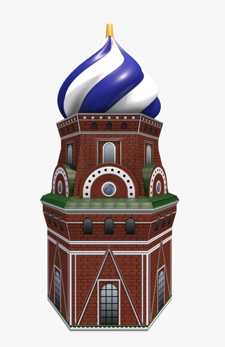 cartoon st basil s 3D model