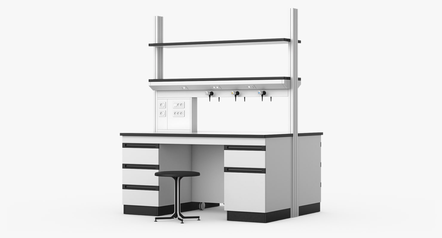 3D model realistic lab table