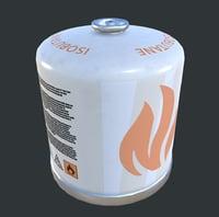3D gas tank butane