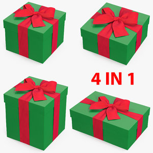 gift boxes 3 3D model