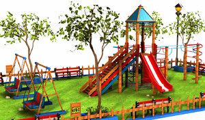 3D garden swing kid