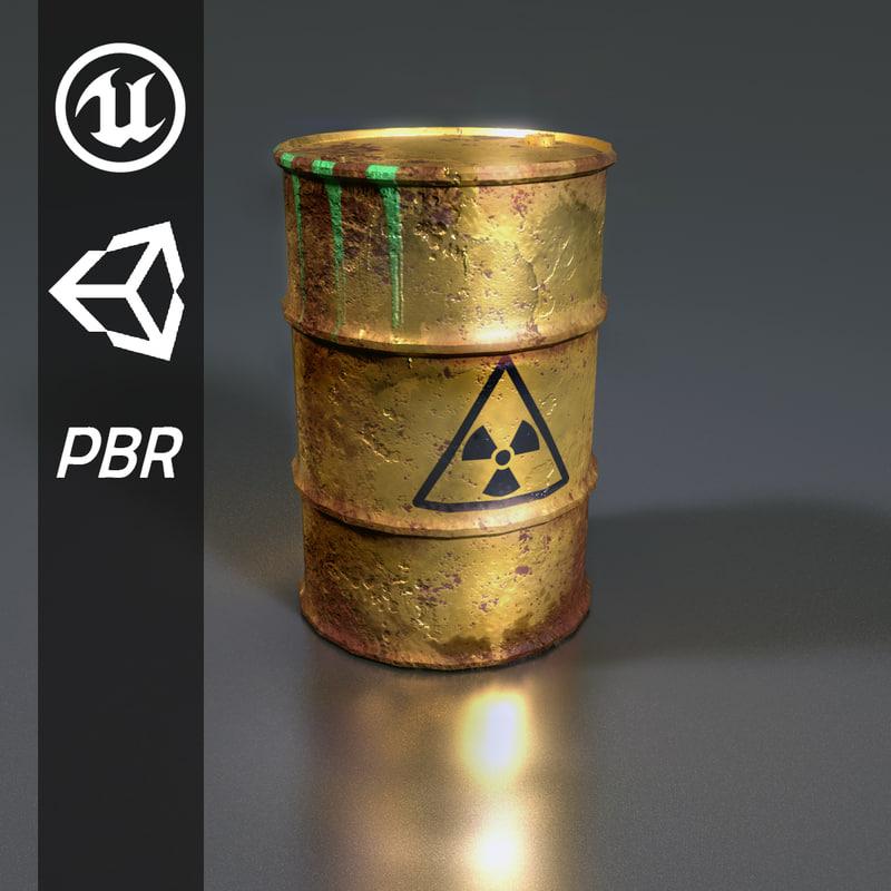 3D barrel unity unreal model