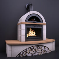 fireplace la nordica falo 3D