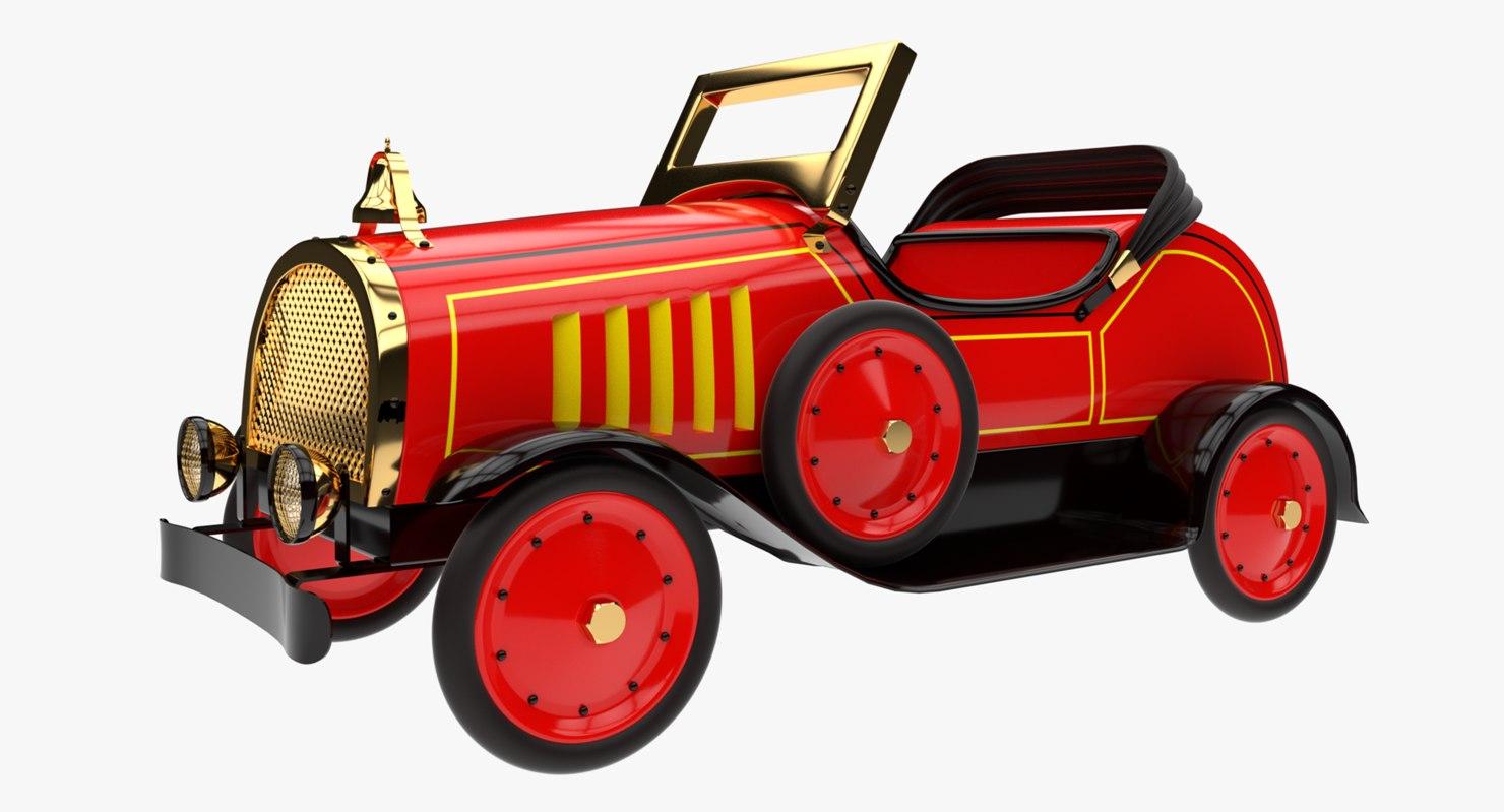 3D vintage toy car