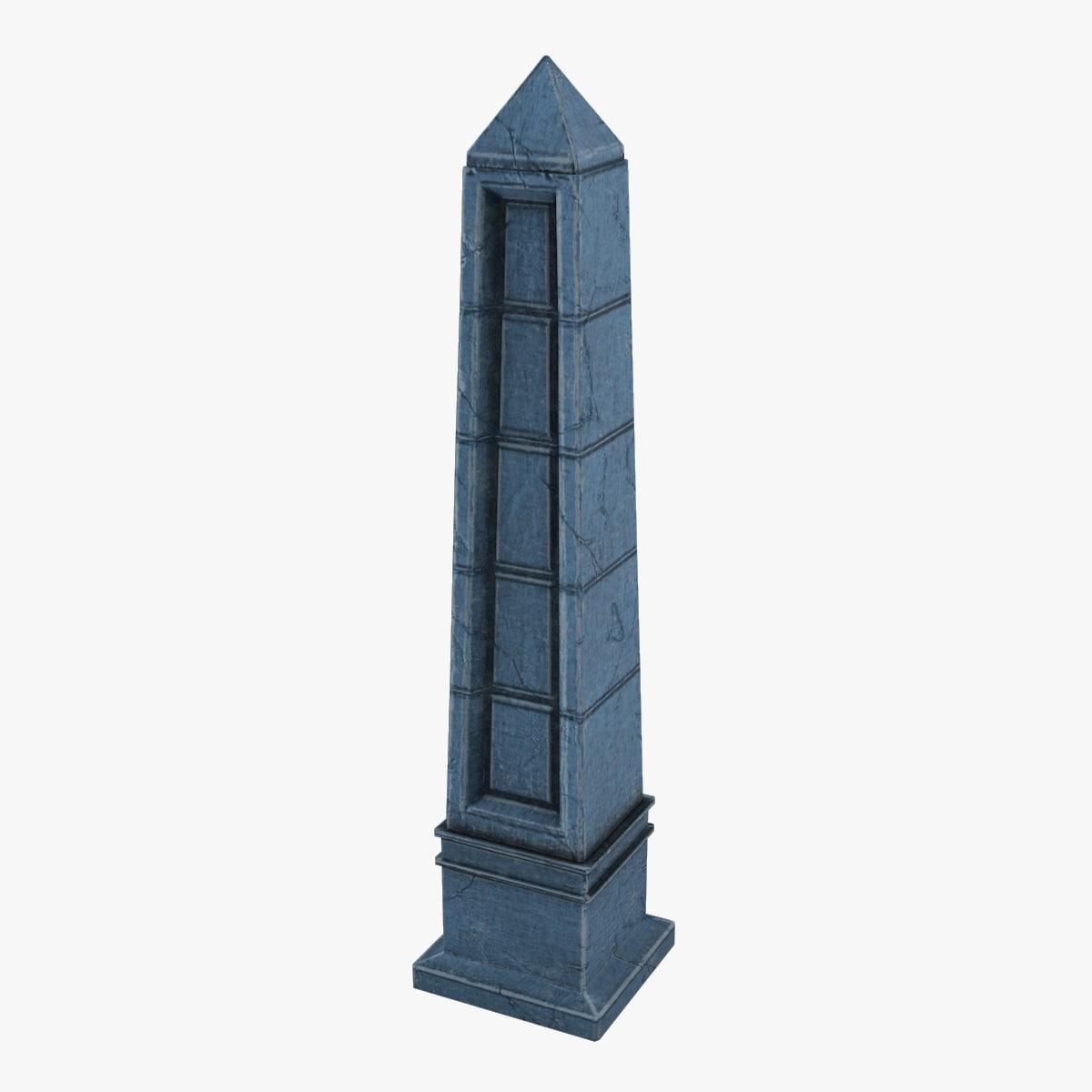ready obelisk blue 3D
