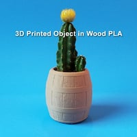 barrel planter printing 3D model