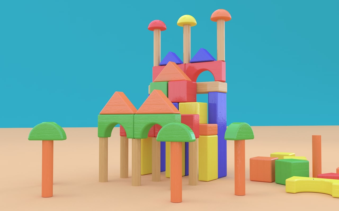 3D model toy blocks