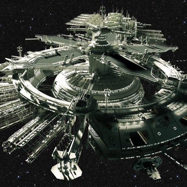 space station drydock model