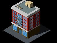 isometric building 3D model